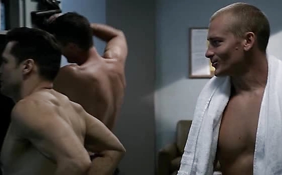 Nick Wechsler sexy shirtless scene October 17, 2014, 11pm