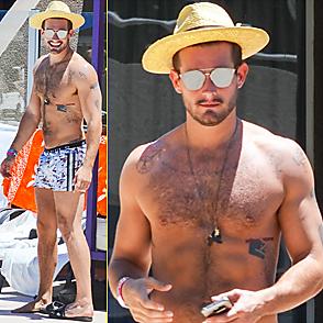 Nico Tortorella latest sexy shirtless July 28, 2015, 11pm