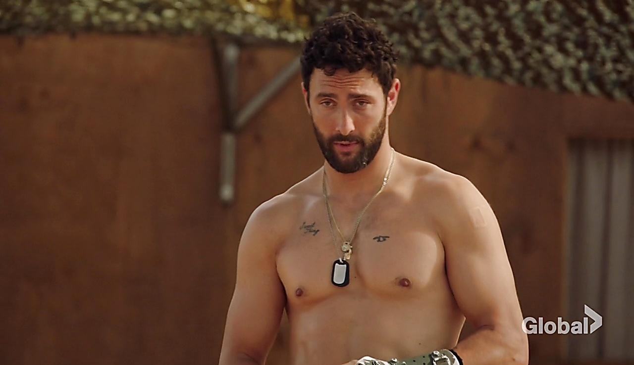 Noah Mills sexy shirtless scene October 6, 2017, 3pm