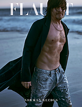 Norman Reedus latest sexy shirtless February 17, 2015, 6pm