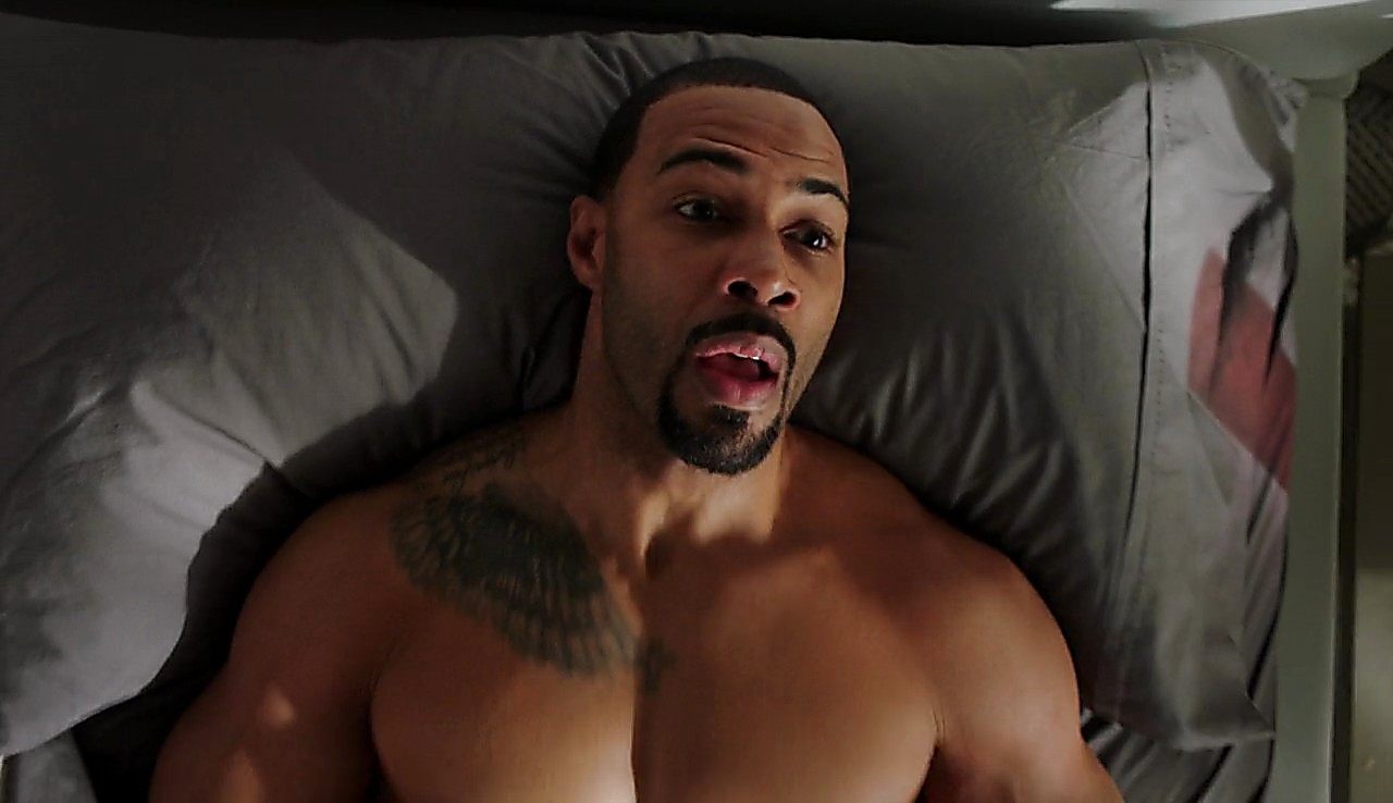 Omari Hardwick sexy shirtless scene July 31, 2017, 1pm