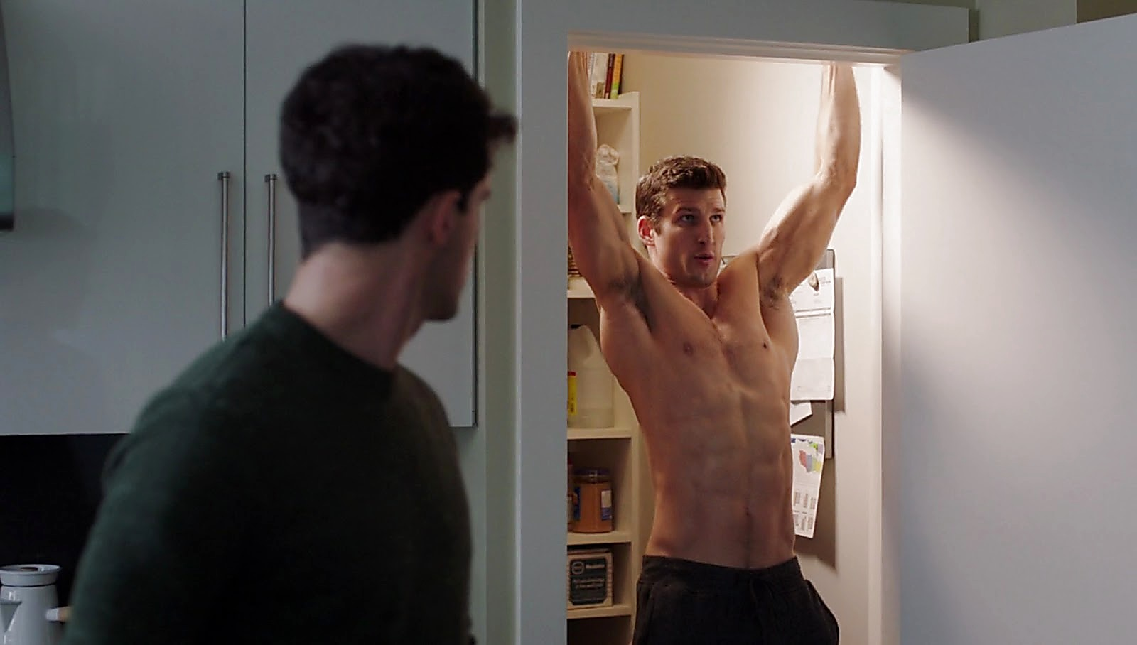 Parker Young sexy shirtless scene February 15, 2017, 12pm