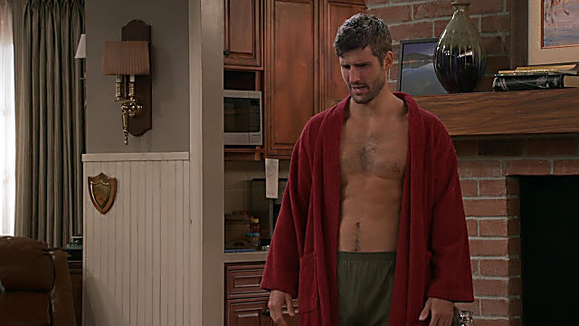 Parker Young sexy shirtless scene April 2, 2021, 5am