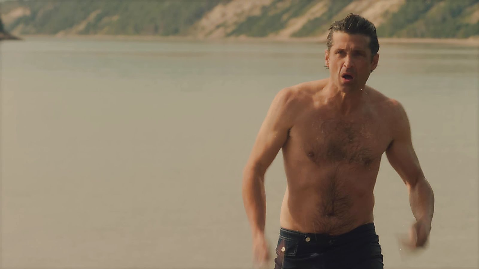 Patrick Dempsey latest sexy shirtless scene October 14, 2018, 12pm