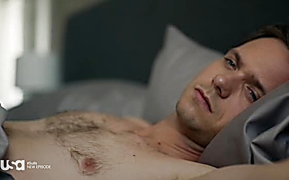Patrick J Adams sexy shirtless scene August 10, 2014, 10pm