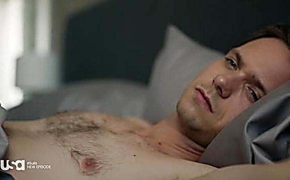 Patrick J Adams sexy shirtless scene August 10, 2014, 10pm