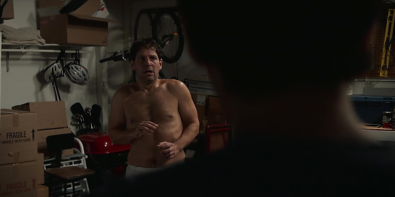 Paul Rudd sexy shirtless scene October 19, 2019, 4pm
