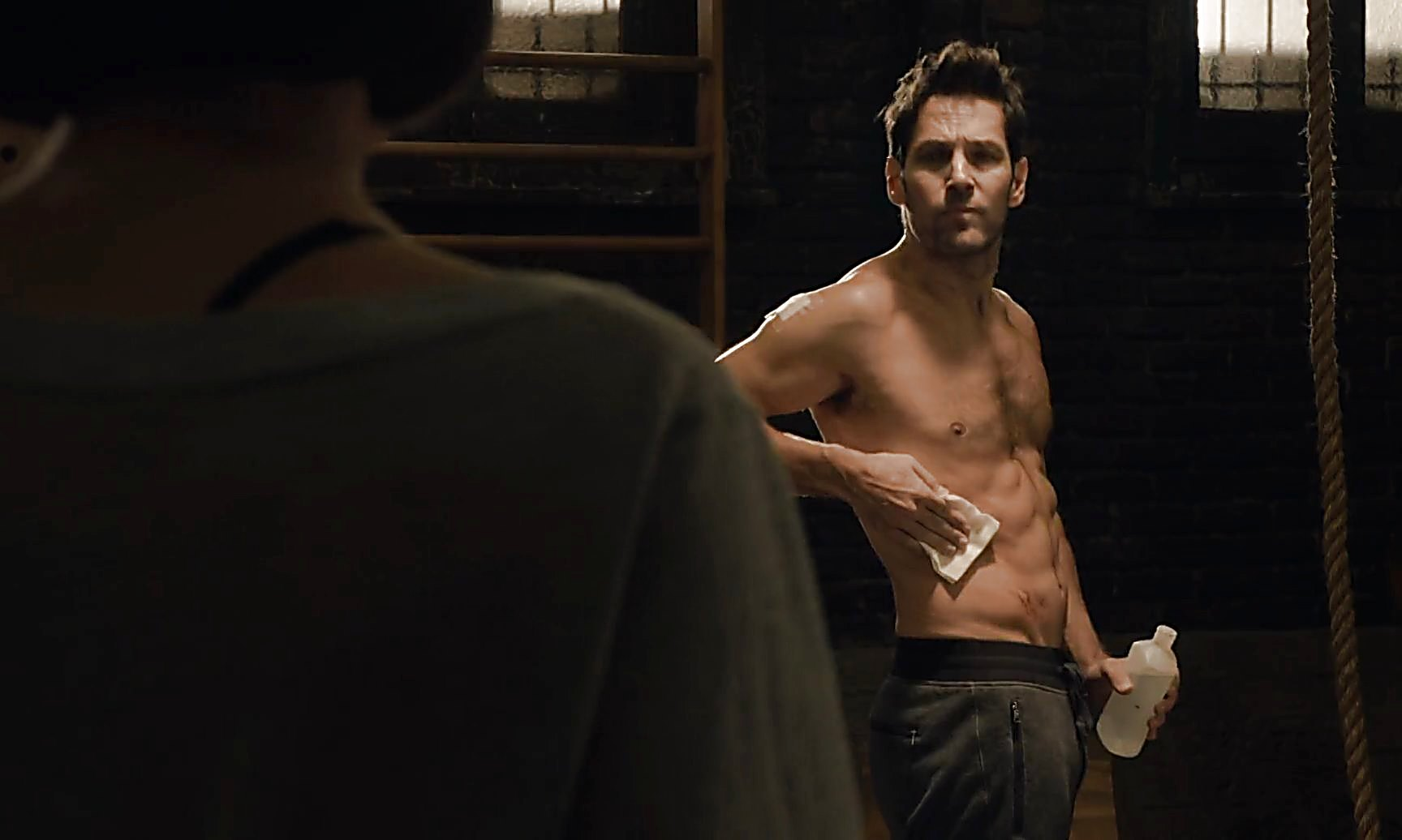 Paul Rudd sexy shirtless scene January 11, 2015, 7pm