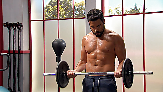 Pedro Carvalho sexy shirtless scene March 8, 2021, 1pm