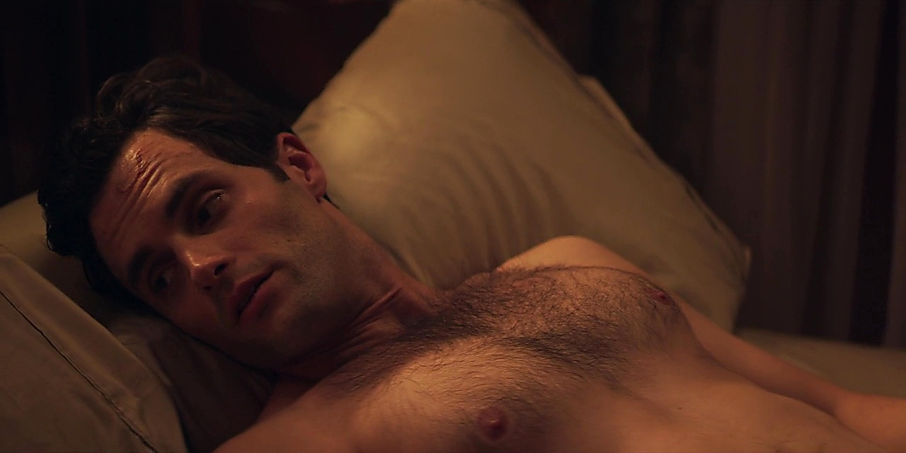 Penn Badgley sexy shirtless scene October 22, 2018, 10am