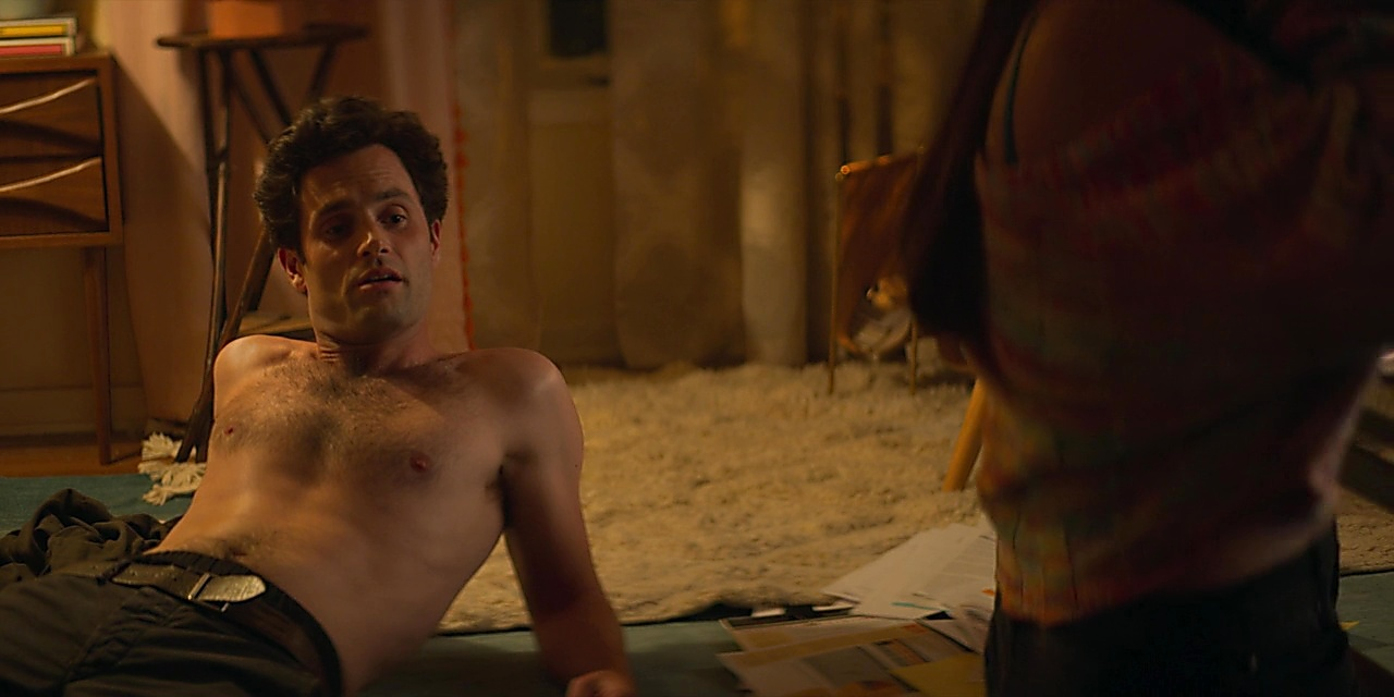Penn Badgley sexy shirtless scene December 26, 2019, 12pm