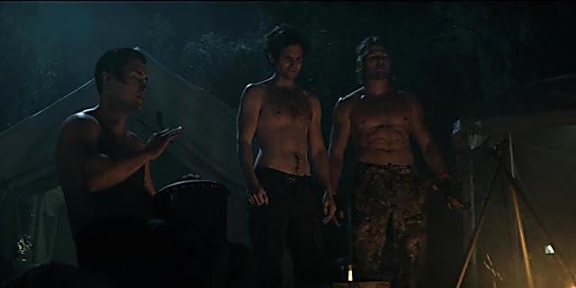 Penn Badgley sexy shirtless scene October 15, 2021, 4am