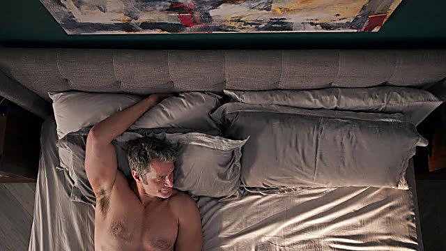 Peter Hermann sexy shirtless scene June 10, 2021, 6am