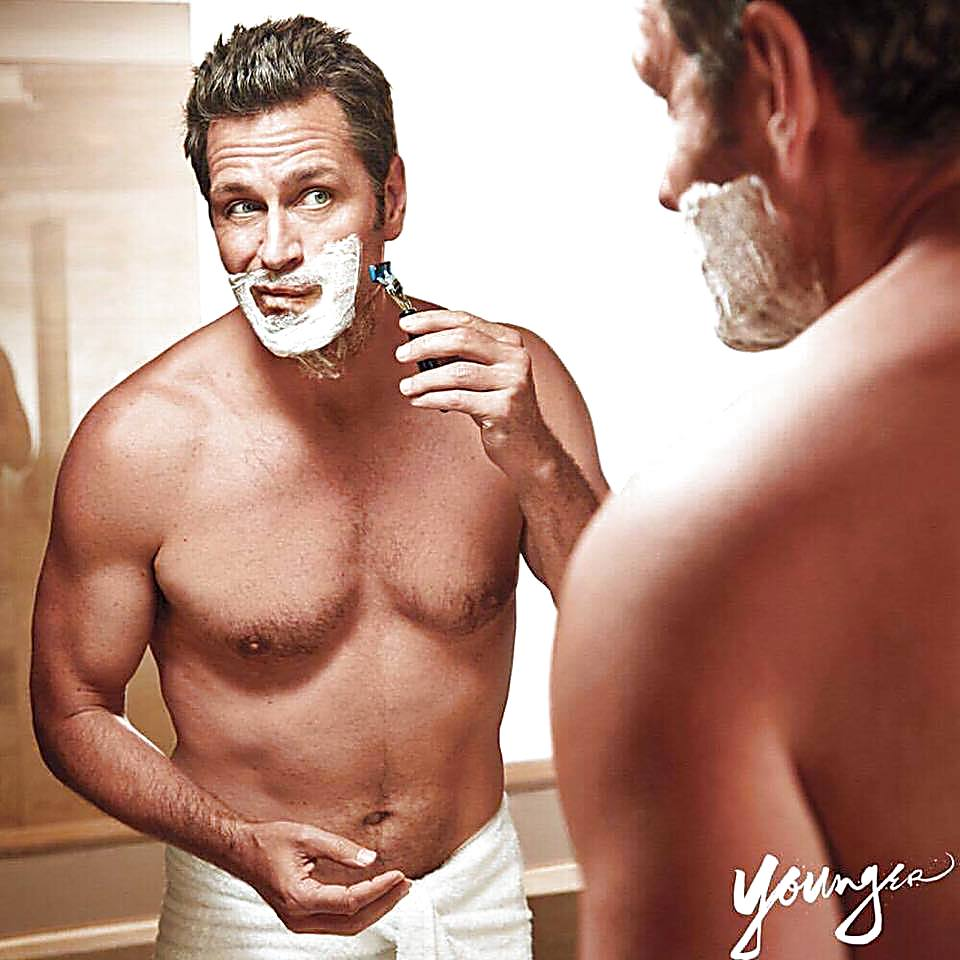 Peter Hermann sexy shirtless scene August 11, 2017, 11am