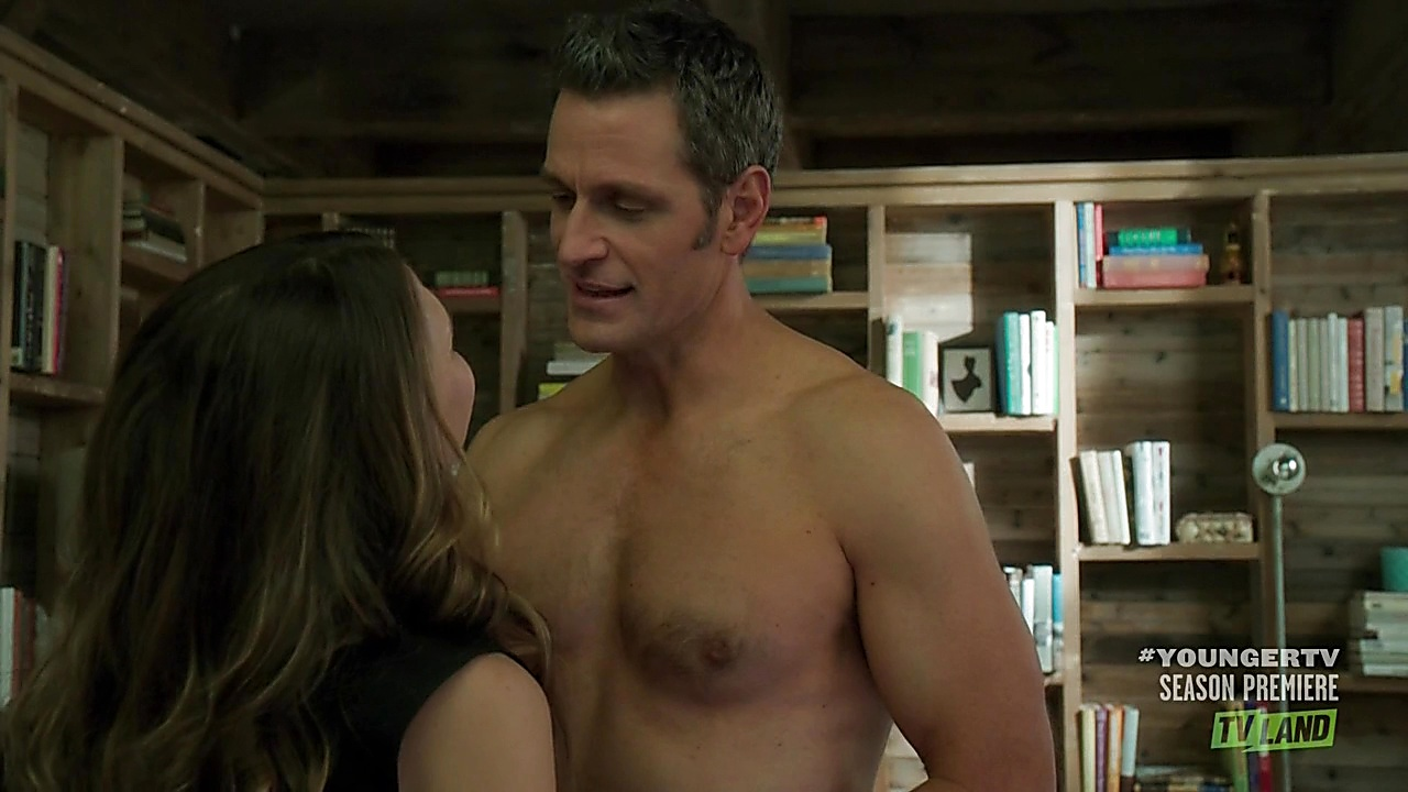Peter Hermann sexy shirtless scene June 15, 2019, 1pm