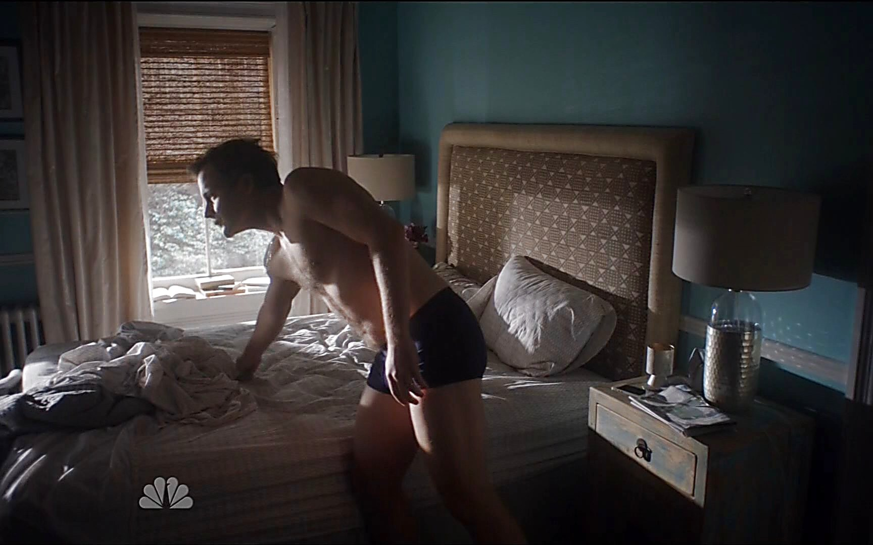 Zachary Quinto sexy shirtless scene February 22, 2015, 4pm