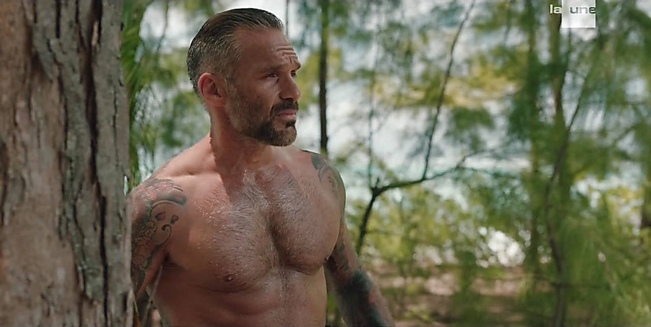 Philippe Bas sexy shirtless scene March 9, 2018, 12pm