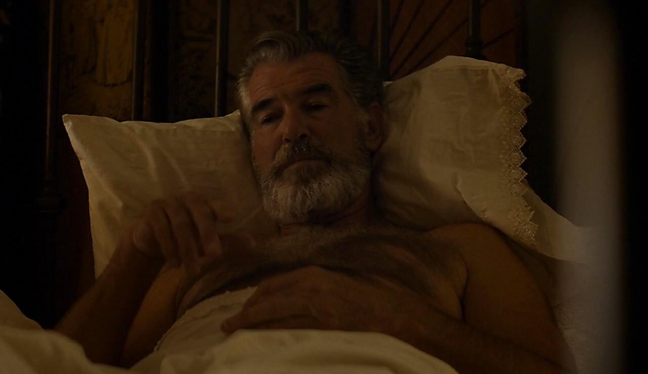 Pierce Brosnan sexy shirtless scene May 15, 2017, 3pm