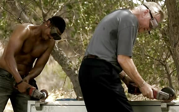 Pooch Hall sexy shirtless scene October 20, 2014, 3pm