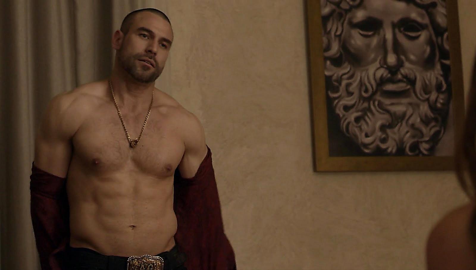 Rafael Amaya sexy shirtless scene July 3, 2018, 11am