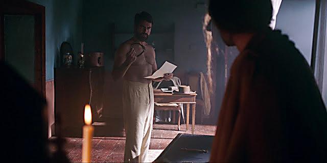 Rafael Novoa sexy shirtless scene March 27, 2021, 9am