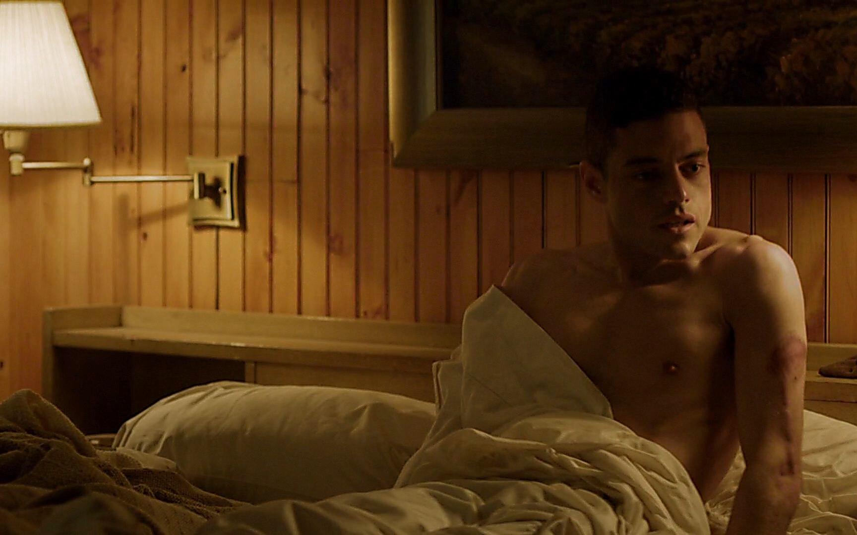 Rami Malek sexy shirtless scene July 18, 2015, 1pm