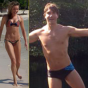 Rebecca Romijn latest sexy shirtless January 3, 2016, 12am