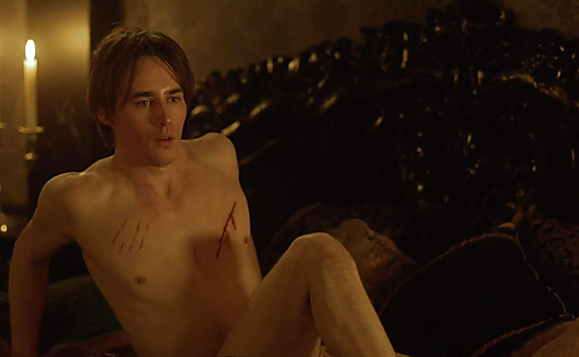 Reeve Carney sexy shirtless scene June 23, 2014, 1am