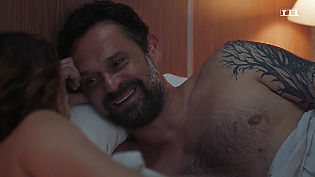 Renaud Roussel sexy shirtless scene July 14, 2021, 4am