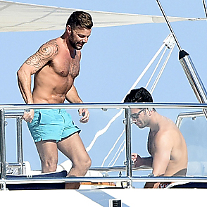 Ricky Martin latest sexy shirtless August 12, 2018, 12pm