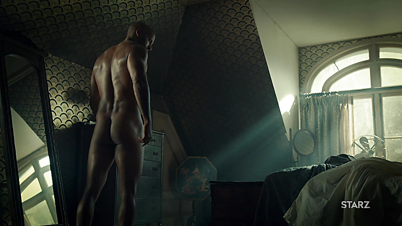 Ricky Whittle sexy shirtless scene April 1, 2019, 10am