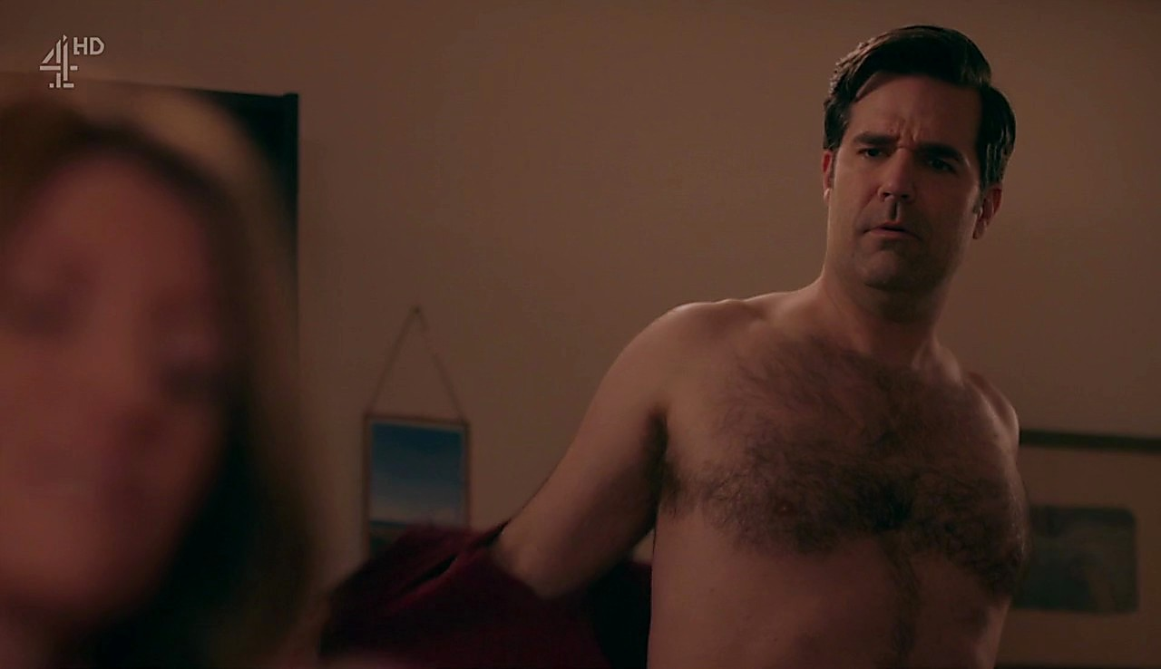 Rob Delaney sexy shirtless scene March 18, 2017, 4pm