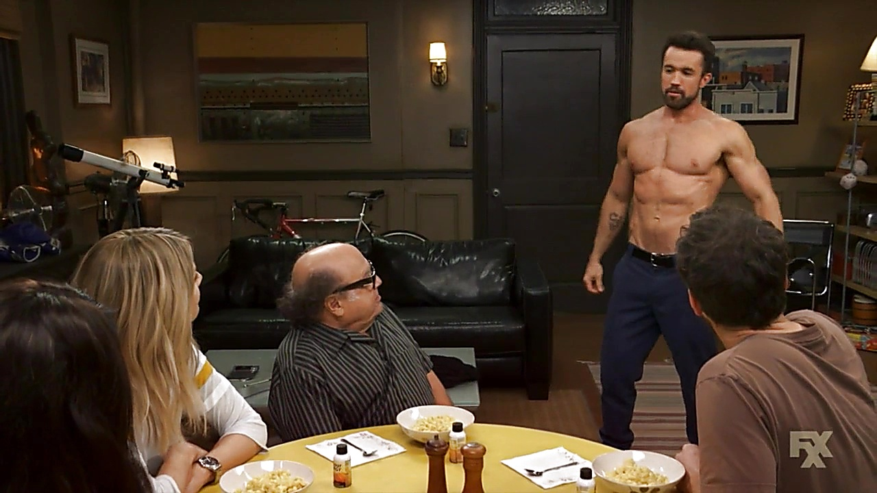 Rob Mcelhenney latest sexy shirtless scene September 10, 2018, 1pm