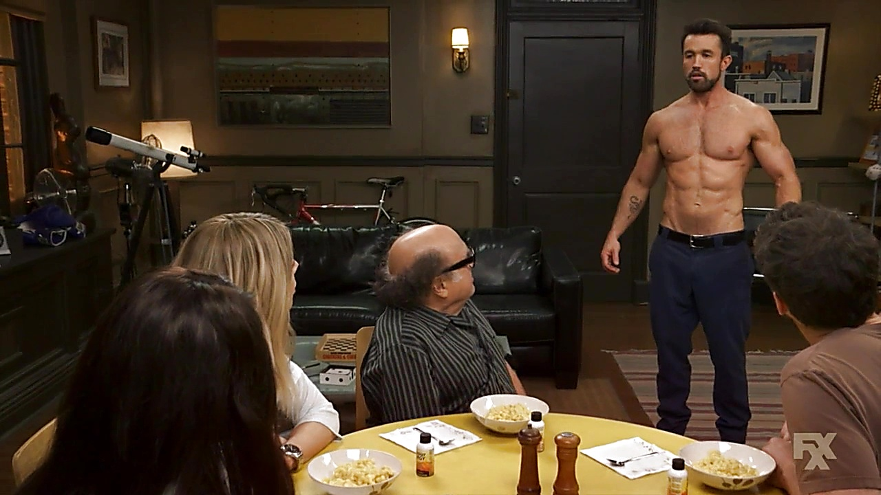 Rob Mcelhenney sexy shirtless scene September 10, 2018, 1pm