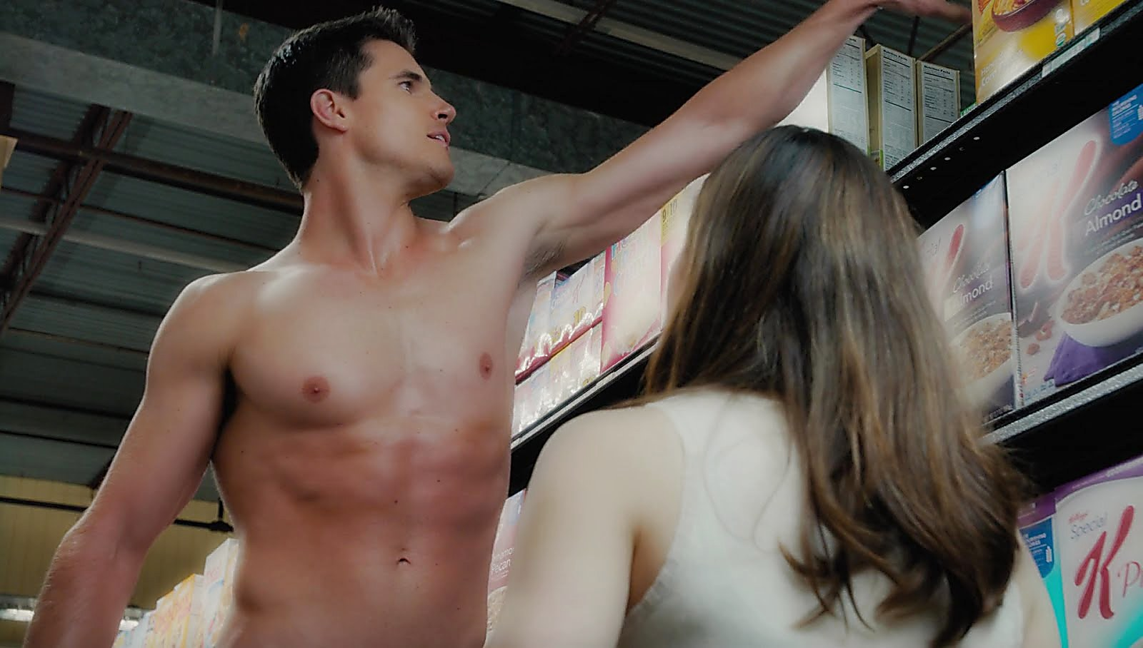 Robbie Amell sexy shirtless scene February 26, 2018, 10am
