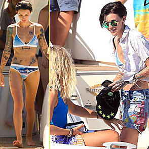 Ruby Rose latest sexy shirtless August 3, 2016, 5pm