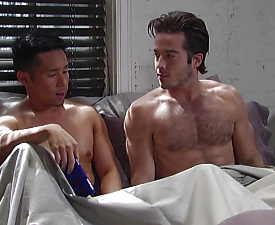 Parry Shen sexy shirtless scene February 8, 2014, 11pm
