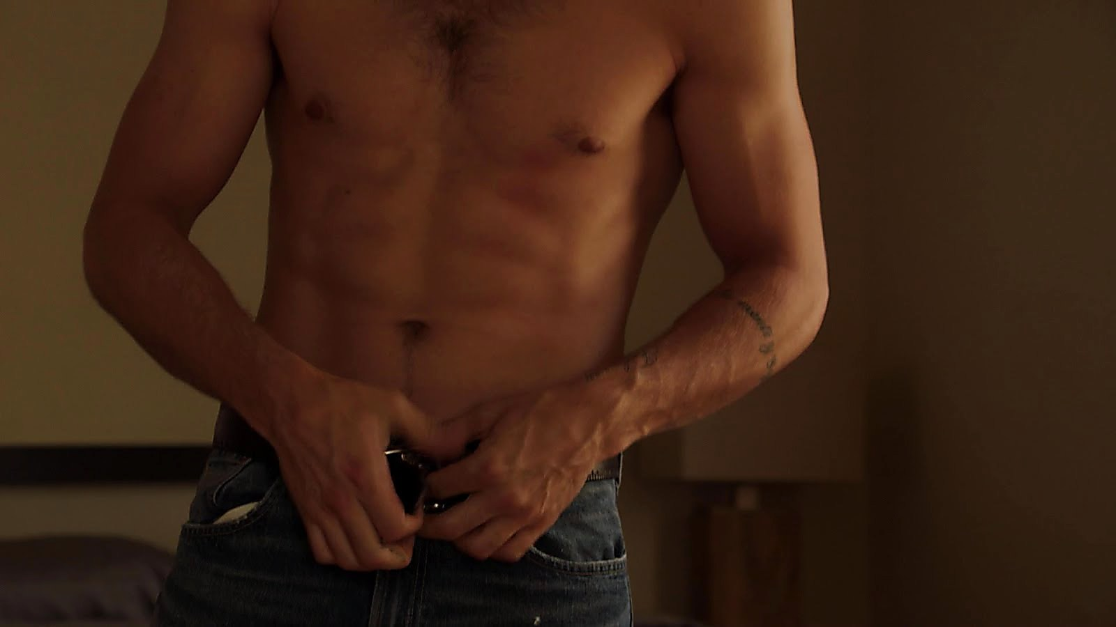 Ryan Guzman sexy shirtless scene October 9, 2018, 12pm