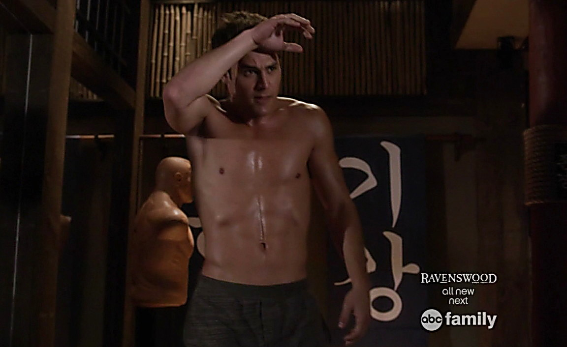 Ryan Guzman sexy shirtless scene January 26, 2014, 4pm