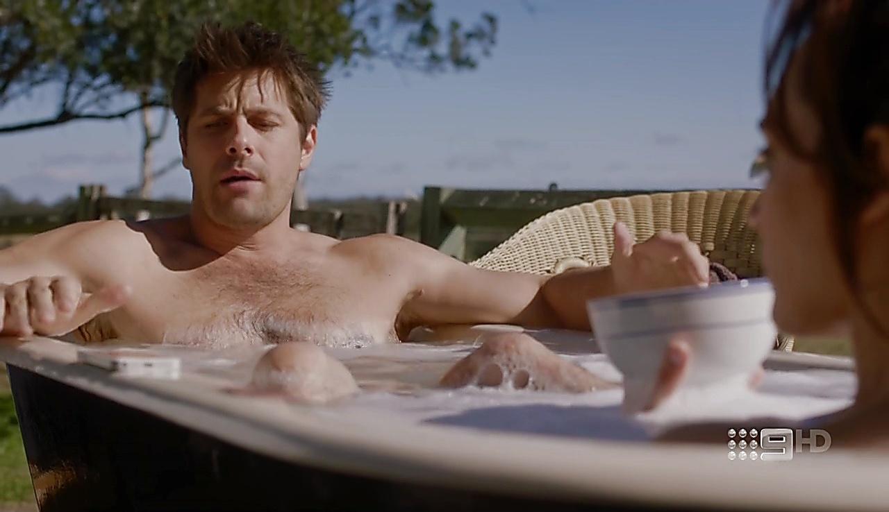 Ryan Johnson sexy shirtless scene September 15, 2017, 1pm
