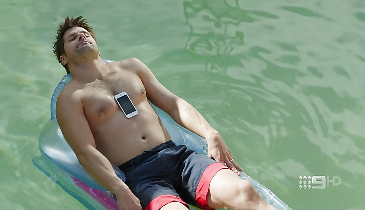 Ryan Johnson sexy shirtless scene August 17, 2017, 11am