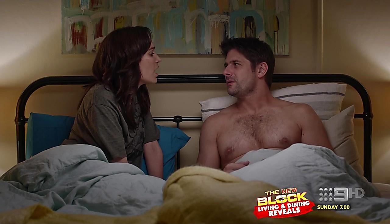 Ryan Johnson sexy shirtless scene August 30, 2017, 10am
