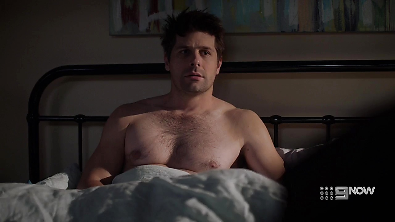 Ryan Johnson sexy shirtless scene October 8, 2018, 3pm
