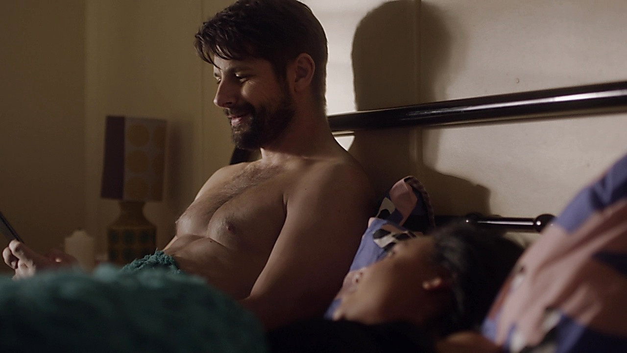Ryan Johnson sexy shirtless scene December 30, 2019, 3pm