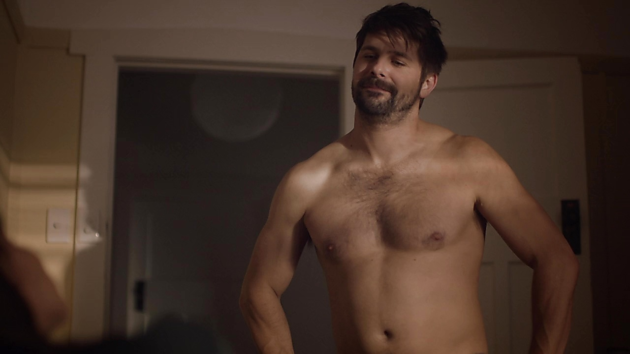 Ryan Johnson sexy shirtless scene December 31, 2019, 1pm