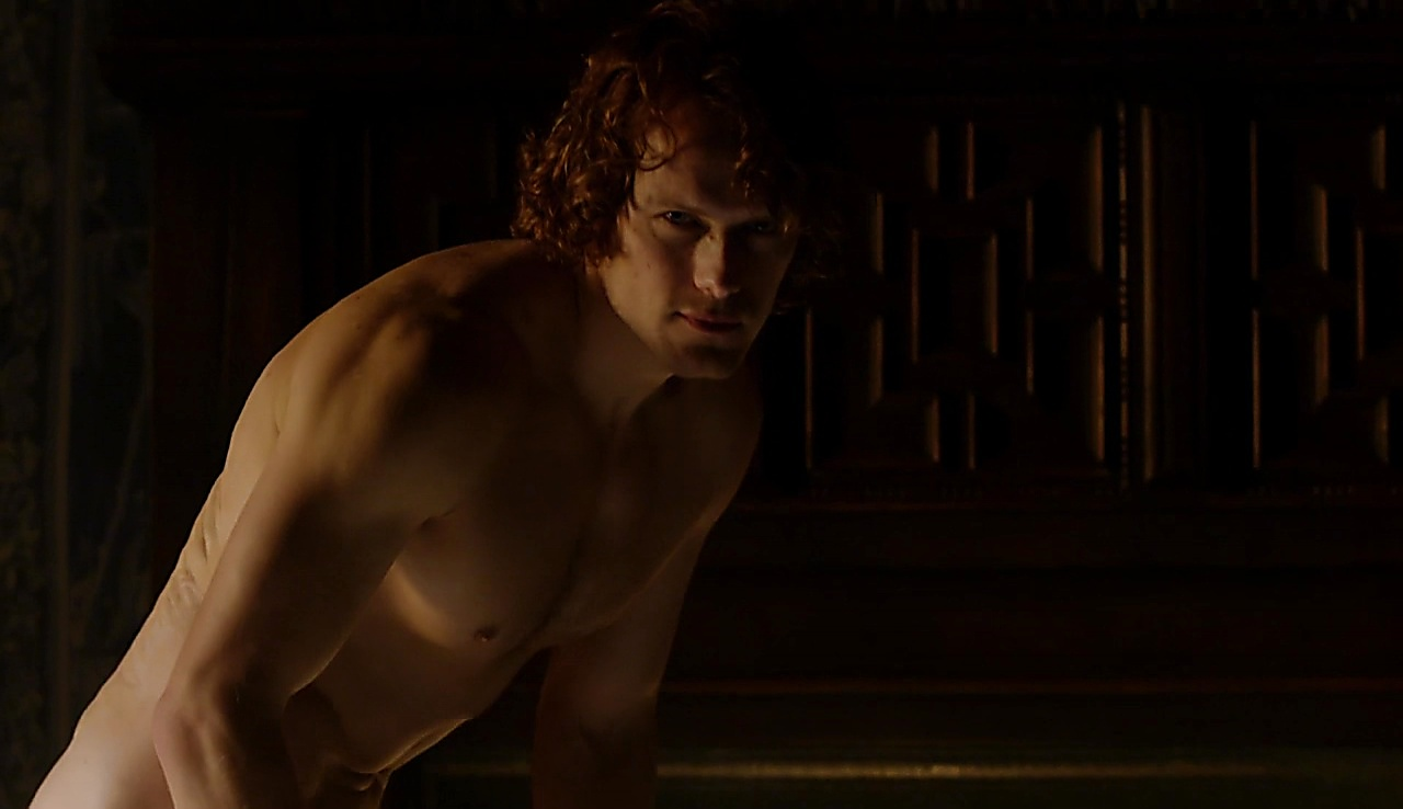 Sam Heughan sexy shirtless scene September 17, 2017, 4am