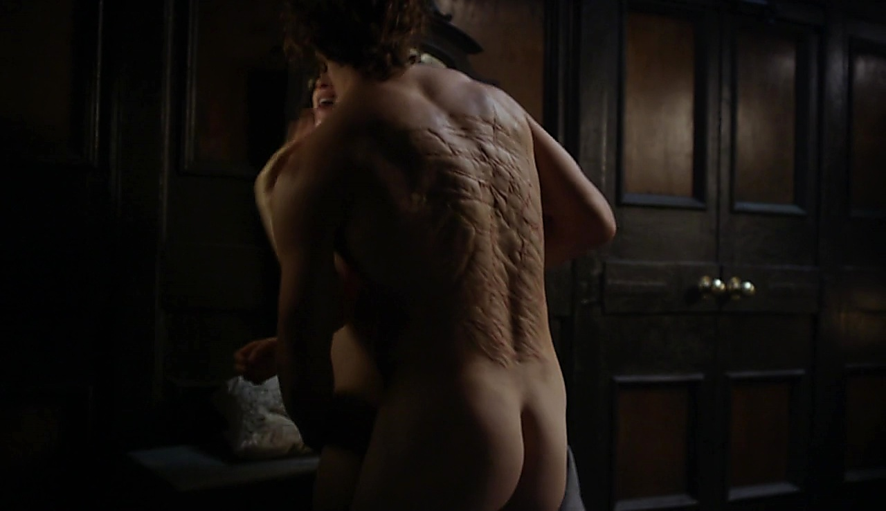 Sam Heughan sexy shirtless scene November 26, 2017, 1pm