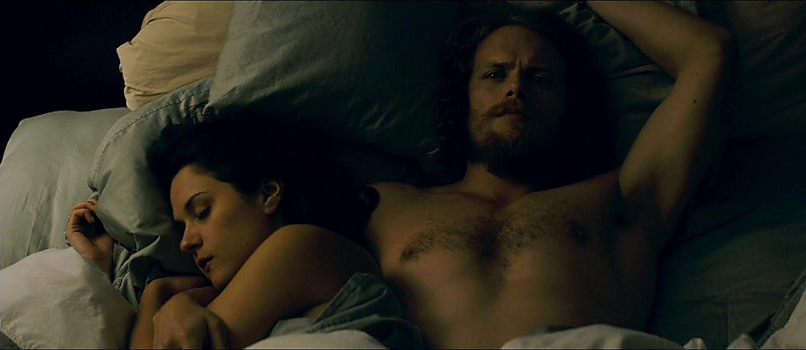 Sam Heughan sexy shirtless scene June 14, 2018, 12pm