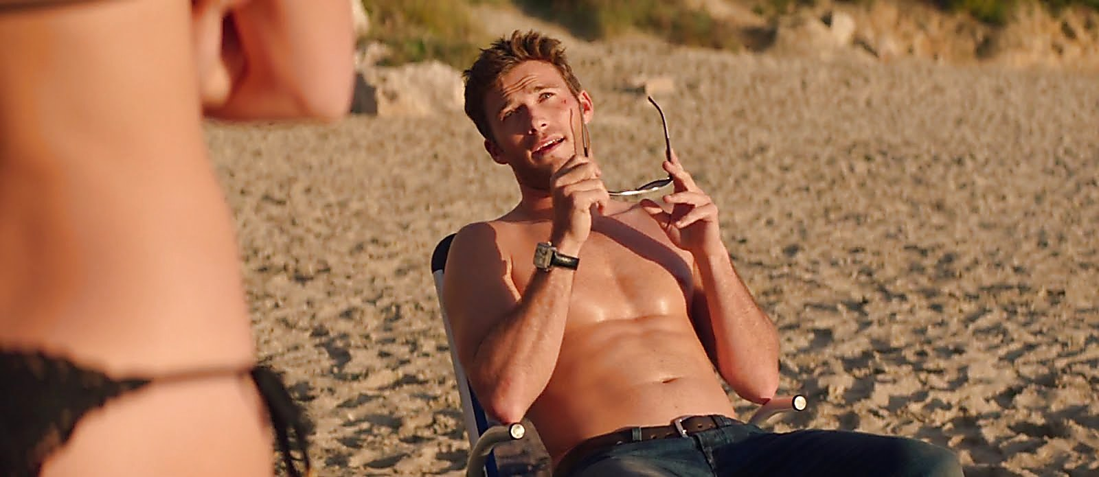 Scott Eastwood sexy shirtless scene October 8, 2017, 12pm