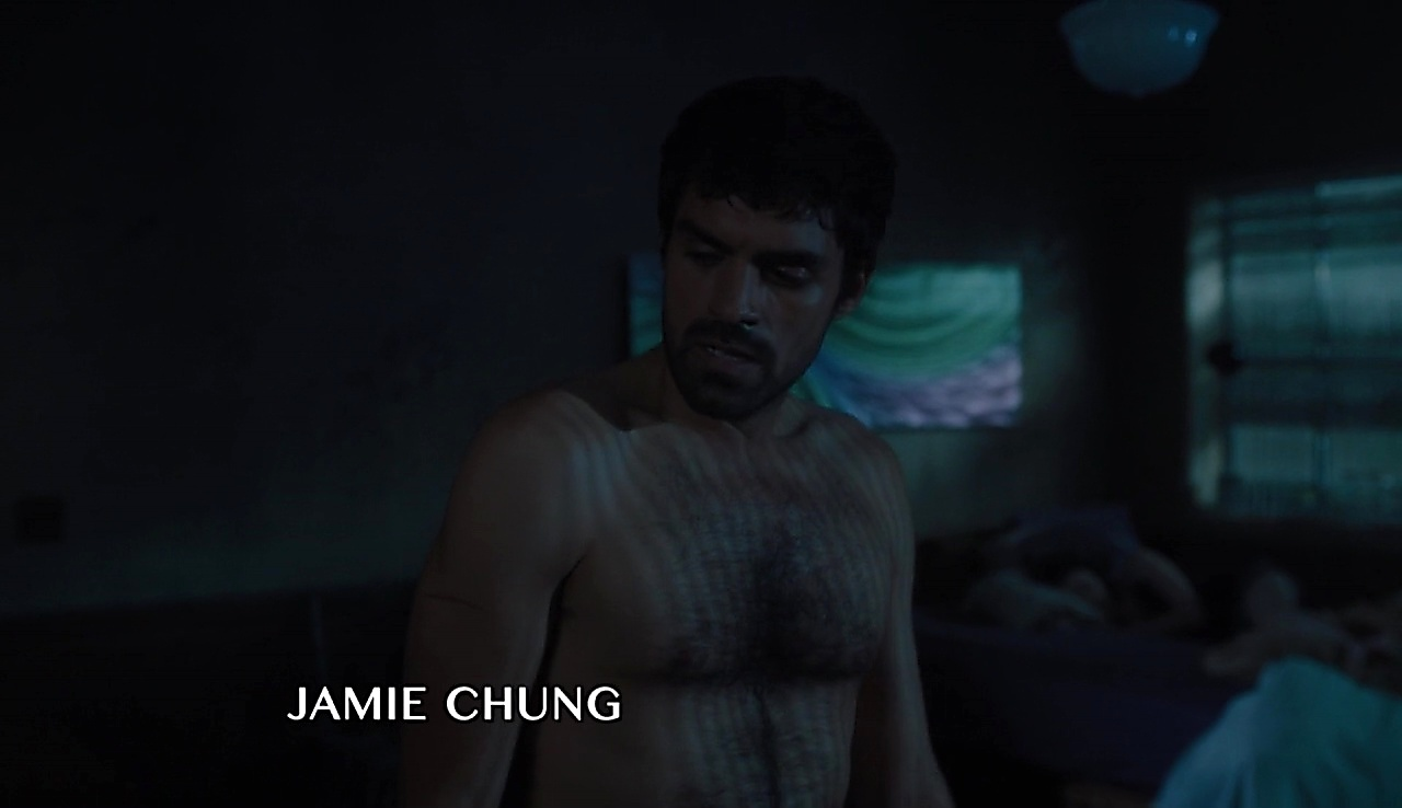 Sean Teale sexy shirtless scene November 16, 2017, 1pm
